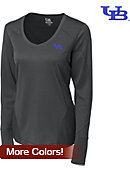 University at Buffalo Dry-Tec Women's V-Neck Long Sleeve T-Shirt