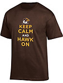 Quincy University 'Keep Calm and Hawk On' T-Shirt