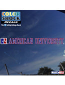 American University Strip Decal