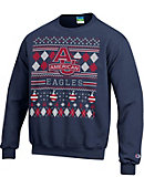 American University Eagles Ugly Sweater Crewneck Sweatshirt