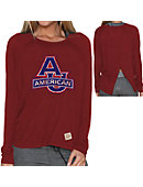 American University Women's Long Sleeve Splitback T-Shirt