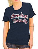 American University Women's Tri-Blend Scoop Neck T-Shirt