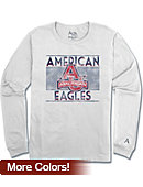 American University Long Sleeve Athletic Fit T-Shirt