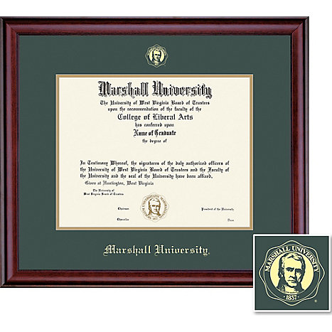 Product: Marshall University 8.5'' x 11'' Classic Diploma Frame
