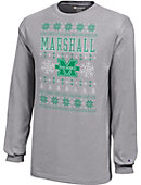 Marshall University Youth Christmas Ugly Sweater Long Sleeve T-Shirt