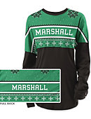 Marshall University Women's Long Sleeve Ugly Sweater Ra Ra Shirt