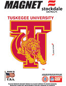 Tuskegee University Golden Tigers 4''x4'' Magnet