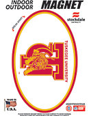 Tuskegee University Golden Tigers 3.5''x5.5'' Oval Magnet