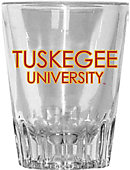 Tuskegee University 2 oz. Fluted Collectors Glass