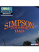 Simpson College Dad Decal