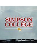 Simpson College Cling Decal
