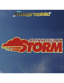 Simpson College Storm Hologram Stand Decal