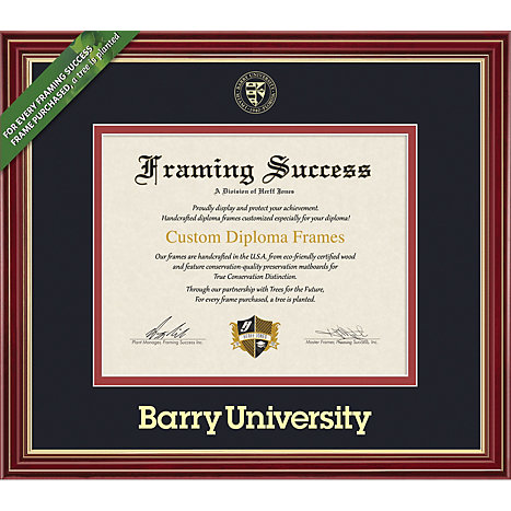 Product: Barry University 8.5'' x 11'' Regal Diploma Frame