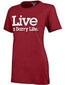 Barry University 'Live a Barry Life.' Women's Campus T-Shirt