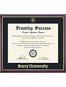 Barry University 8.5'' x 11'' Value Price Scholastic Diploma Frame