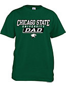 Chicago State University Cougars Dad T-Shirt