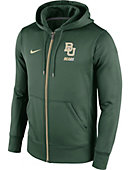 Nike Baylor University Sideline Full-Zip Fleece Sweatshirt