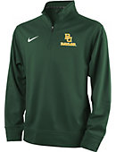 1612E Baylor University Youth 1/4 Zip Long Sleeve Top