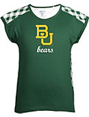 1612G1 Baylor University Youth Miranda Gingham Short Sleeve T-Shirt