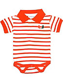 University of Miami Infant Bodysuit Striped Polo