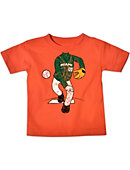 University of Miami Headless Baseball Player Toddler T-Shirt
