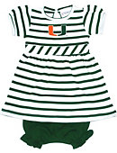 University of Miami Infant Dress with Bloomers