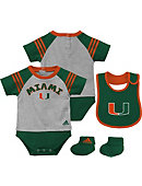 University of Miami Infant 3-Piece Bodysuit Set