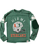 University of Miami Football Youth Boy's Long Sleeve T-Shirt