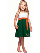 University of Miami Youth Bowtie Dress