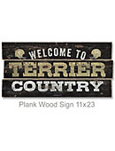 Wofford College Terriers 22''x11'' Wood Sign