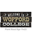 Wofford College 22''x11'' Welcome Wood Sign