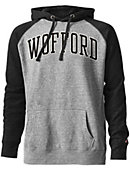 Wofford College Tri-Blend Color Block Hooded Sweatshirt