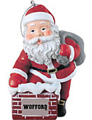 Wofford College 3 in. Rooftop Santa Ornament