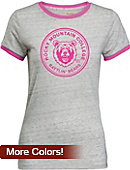 Rocky Mountain College Women's Athletic Fit Ringer Short Sleeve T-Shirt