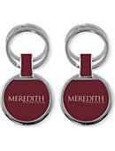 Meredith College Double Ring Keychain