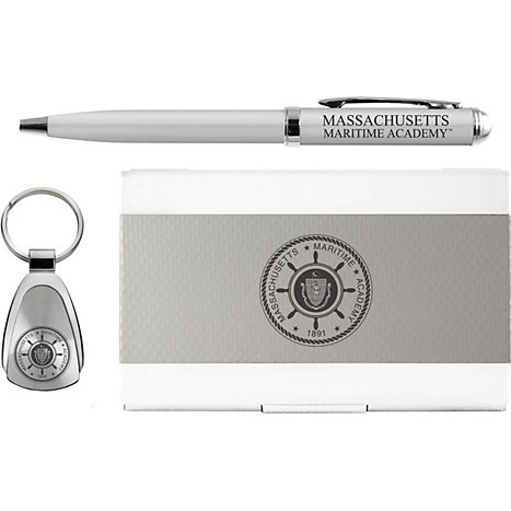 Product: Massachusetts Maritime Academy Pen, Keychain, and Cardholder Set