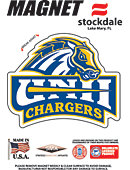 University of New Haven Chargers 4''x4'' Magnet