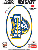 University of New Haven Chargers 3.5''x5.5'' Oval Magnet