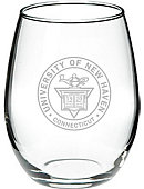 University of New Haven 21 Oz. Stemless Wine Glass