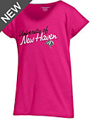 University of New Haven Girls' V-Neck Short Sleeve T-Shirt