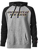 University of New Haven Tri-Blend Color Block Hooded Sweatshirt