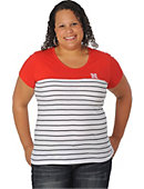 University of Nebraska - Lincoln Women's Striped T-Shirt