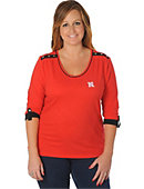 University of Nebraska - Lincoln Women's Roll-Up 3/4 Sleeve Top