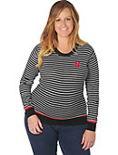 University of Nebraska - Lincoln Women's Striped Cardigan