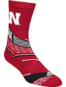 Adidas University of Nebraska - Lincoln Patterned Sox