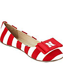 University of Nebraska - Lincoln Women's Flats with Bow