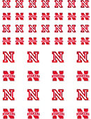 University of Nebraska - Lincoln Huskers 50-Count Sticker Sheet - 2-Sheets