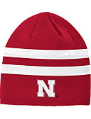 Adidas University of Nebraska - Lincoln Striped Knit Beanie