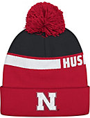 Adidas University of Nebraska - Lincoln Pom Cuffed Knit Cap