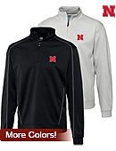Cutter & Buck University of Nebraska DryTec Edge Half Zip - ONLINE ONLY